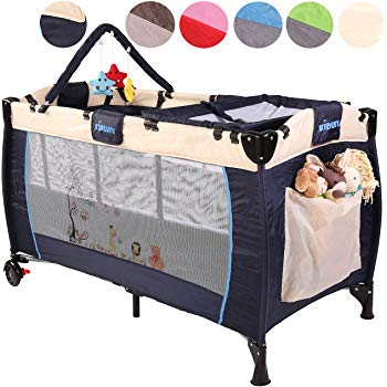 KIDUKU® Baby bed travel cot crib portable child bed folding bed