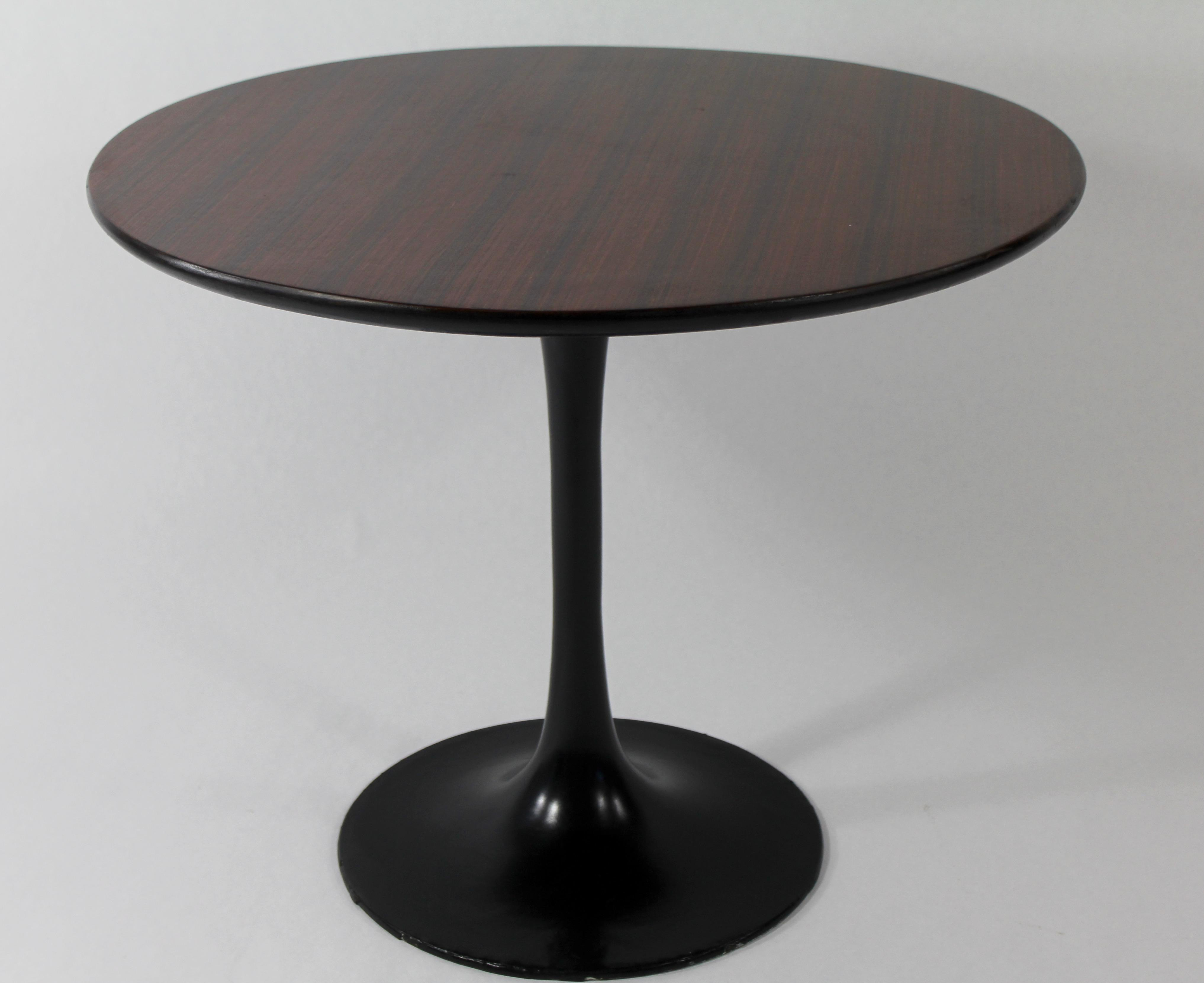 Knoll Style 1960s Rosewood Tulip Table | Chairish