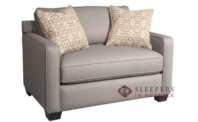 Customize and Personalize Parker Twin Fabric Sofa by Fairmont