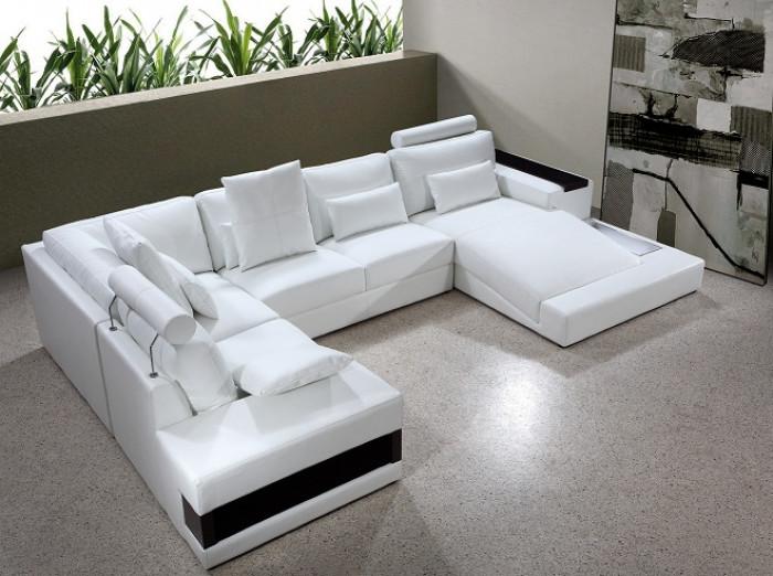 Diamond Modern White Leather