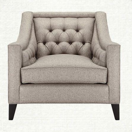 Rylan Tufted Upholstered Chair in Taranto Dove | Arhaus Furniture