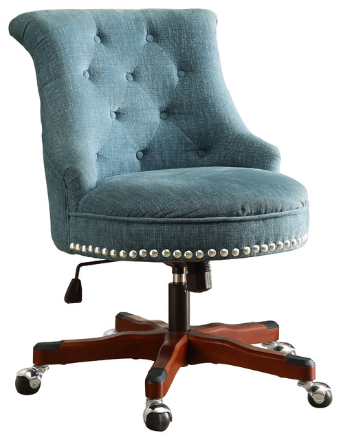Rubberwood Metal Executive Chair - Traditional - Office Chairs - by
