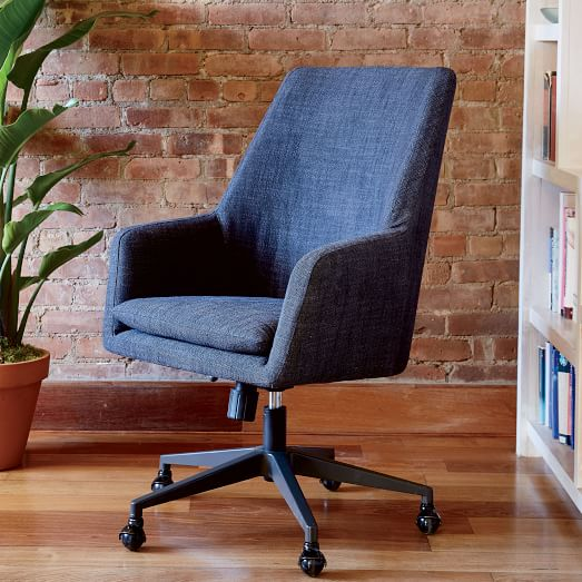 Helvetica High-Back Upholstered Office Chair | west elm