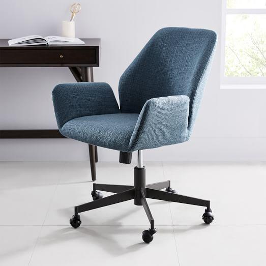 Aluna Upholstered Office Chair | west elm