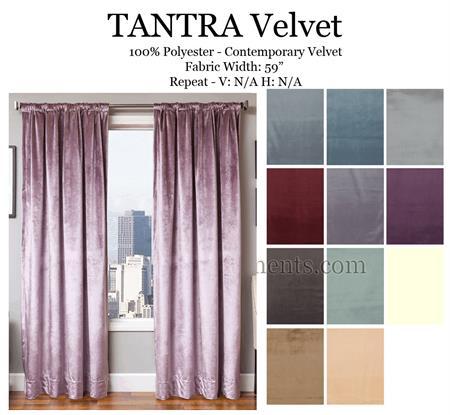 Tantra Velvet Curtains | Bestwindowtreatments.com
