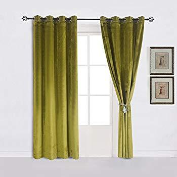 Amazon.com: Super Soft Luxury Velvet Moss Green |olive GreenSet of 2