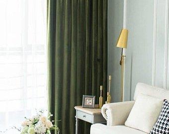 Velvet curtains | Etsy