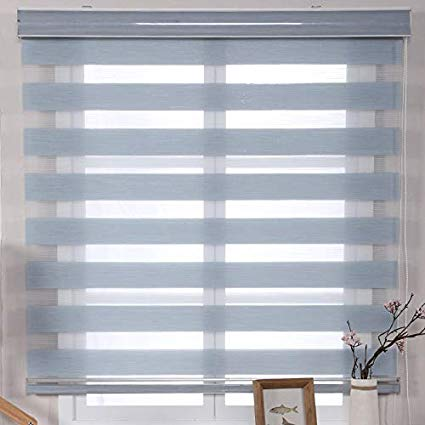 Amazon.com: Wood Horizontal Window Blinds,Linen Roller Blind Double