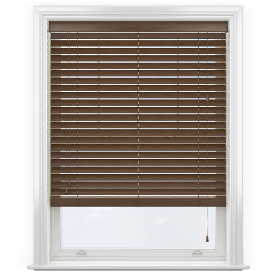 Premier Walnut Wooden Venetian Blind