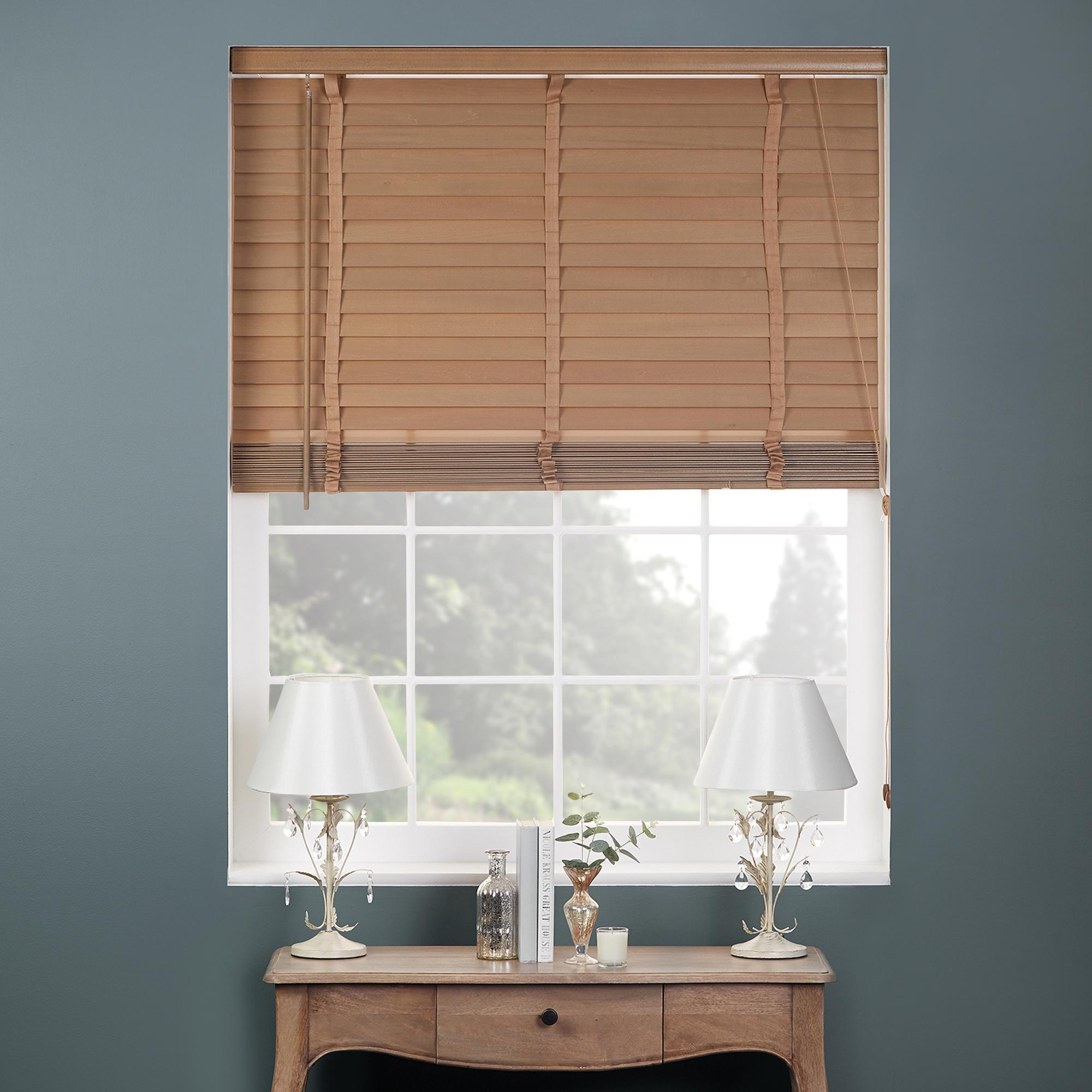 Oak Wooden Venetian Blind 50mm Slats | Dunelm