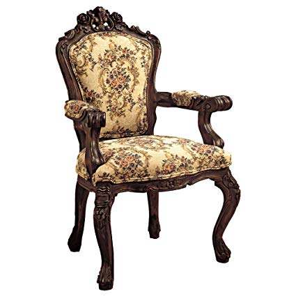 Amazon.com: Design Toscano Rocaille Carved Victorian Armchair, 41
