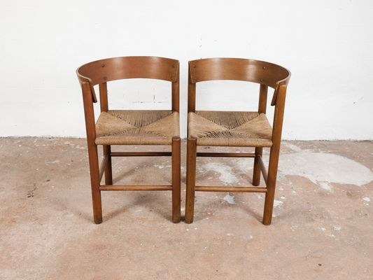 Vintage Chairs by Mogens Lassen for Fritz Hansen, Set of 2 for sale