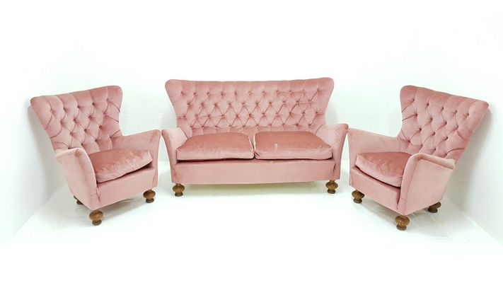 Vintage Sofa & 2 Lounge Chairs, 1960s for sale at Pamono