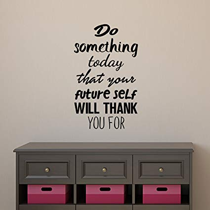 Amazon.com: Motivational Quote Wall Art Decal - Do Something Today