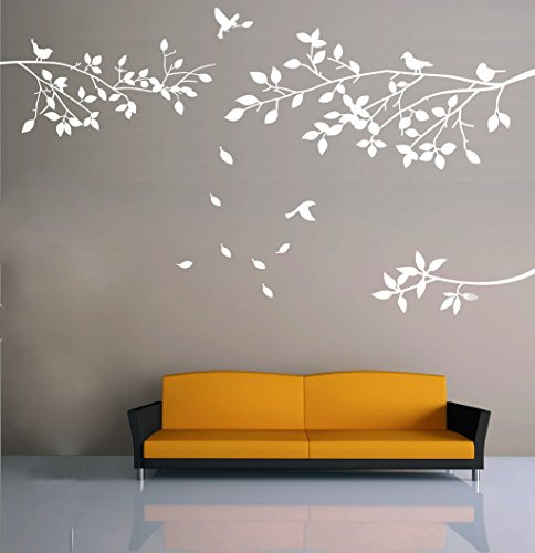Amazon.com: Elegant Tree and Birds Wall Decal Art Branch Wall