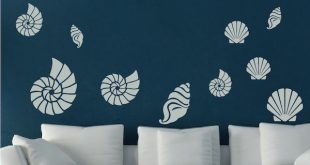 Seashell Wall Art Decals - Trendy Wall Designs