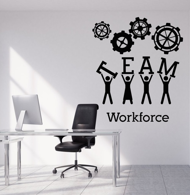 Team Business Work Wall Sticker Vinyl Decals Teamwork Office
