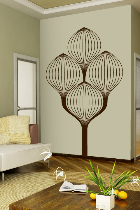 Art Deco Tree Wall Decals | WALLTAT
