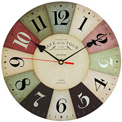 Amazon.com: Adalene Wall Clocks Battery Operated Non Ticking 12 inch