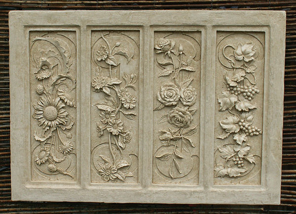 FOUR SEASONS WALL Plaque - Garden Wall Plaques Online Floral Wall
