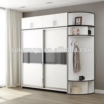 Modern Storage Closet Waterproof Almirah Designs Wardrobe Wooden