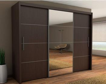Wooden Aluminium Wardrobe Designs,Bedroom Wardrobe Sliding Mirror