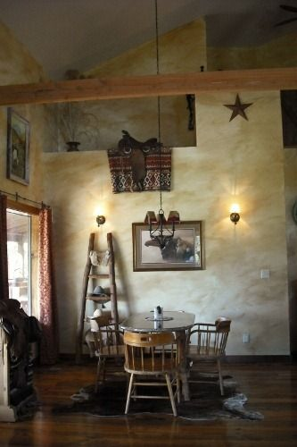 rustic western wall color ideas | Western Saddles: Western Home
