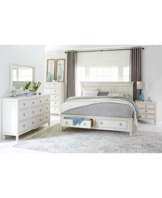 Furniture Sag Harbor White Bedroom Furniture Collection, 3-Pc. Set