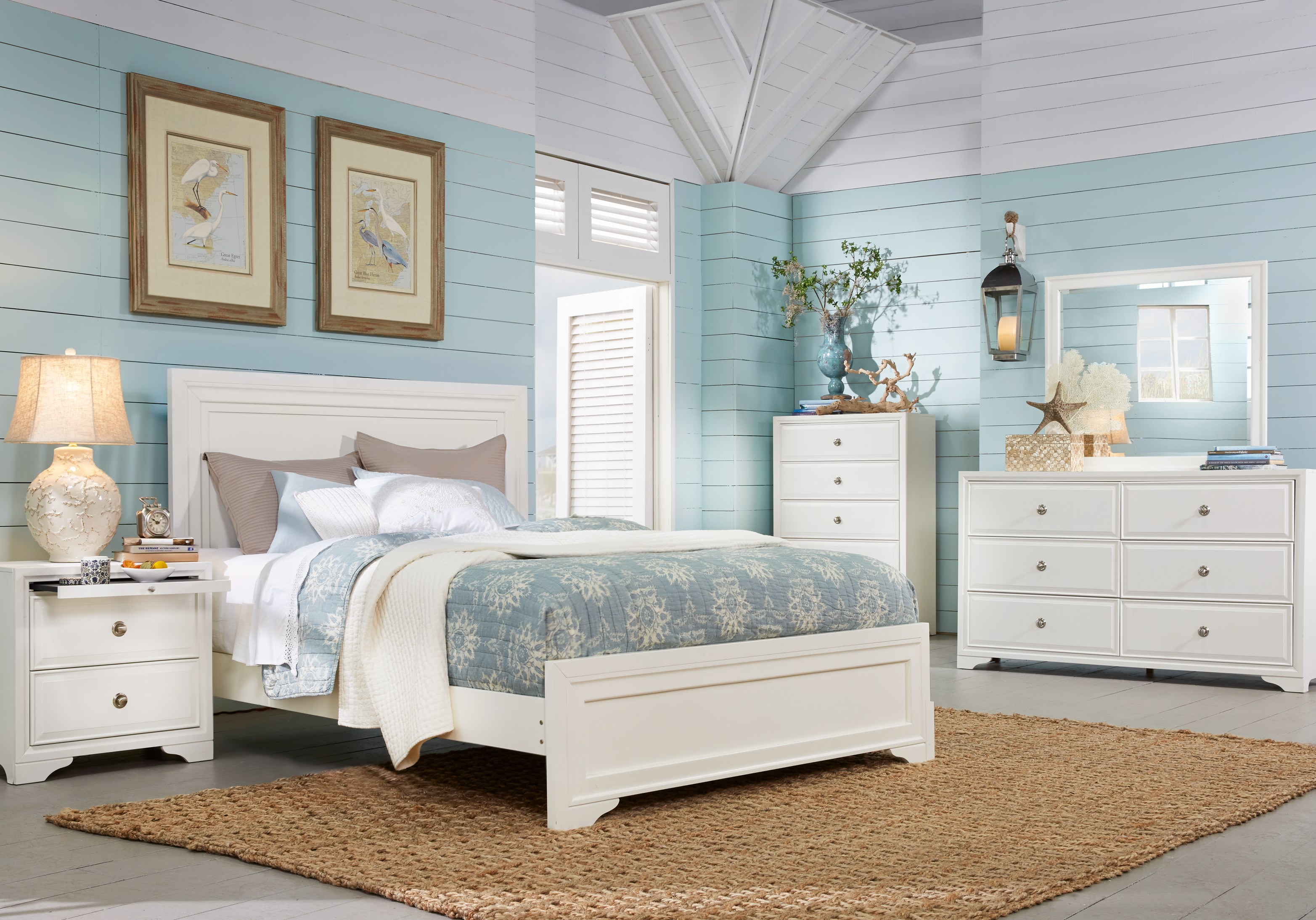 White Queen Bedroom Sets for Sale: 5 & 6-Piece Suites