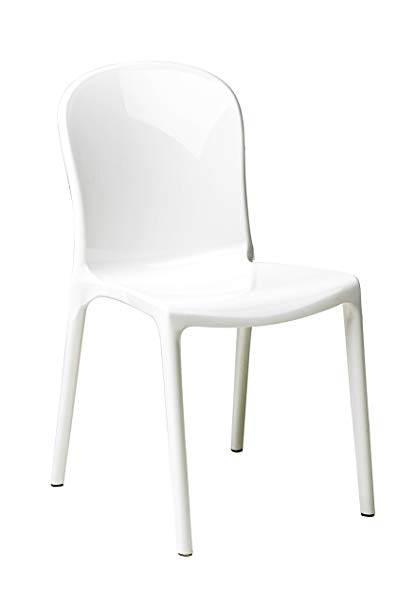 Amazon.com - Commercial Seating Products RPC-Genoa-WH Polycarbonate