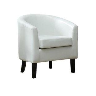White Leather Barcelona Chair | Wayfair