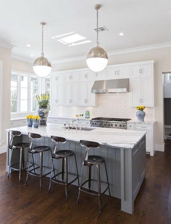 Elegant White Kitchen Interior Designs - For Creative Juice
