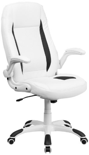 Amazon.com: Flash Furniture High Back White Leather Executive Swivel