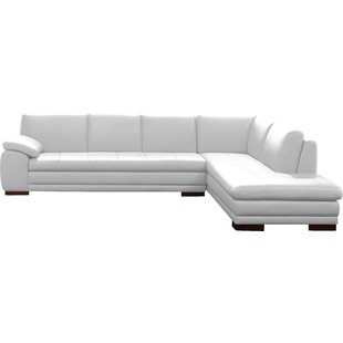 Cream Leather Sectional Sofa | Wayfair
