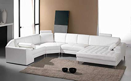 The benefits of white leather sectional   sofas