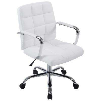 White office chair for dual purpose