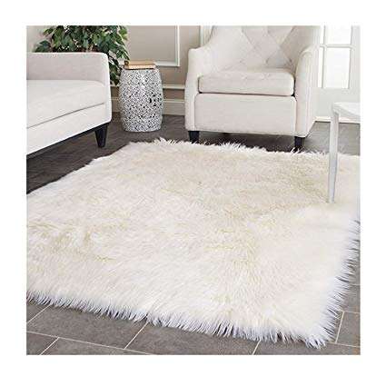 Amazon.com: Elhouse Home Decor Square Rugs Faux Fur Sheepskin Area