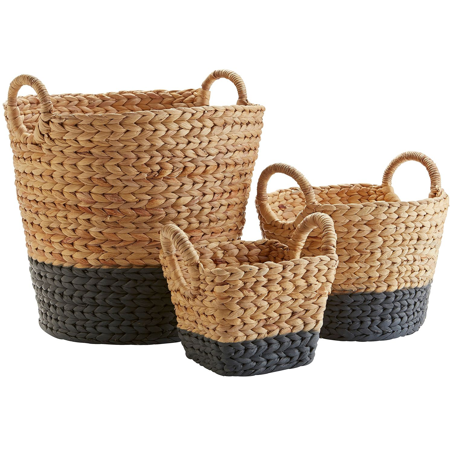 Dippy Gray & Natural Wicker Baskets | Pier 1