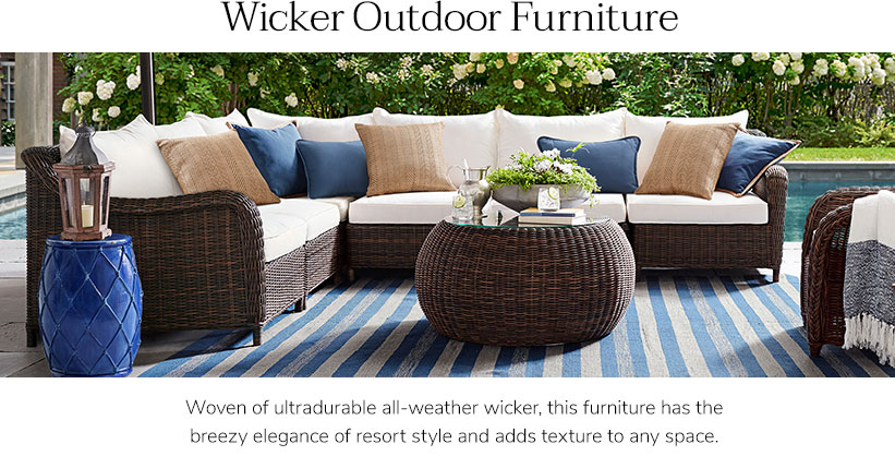 Wicker Furniture & Wicker Patio Furniture Sets | Pottery Barn