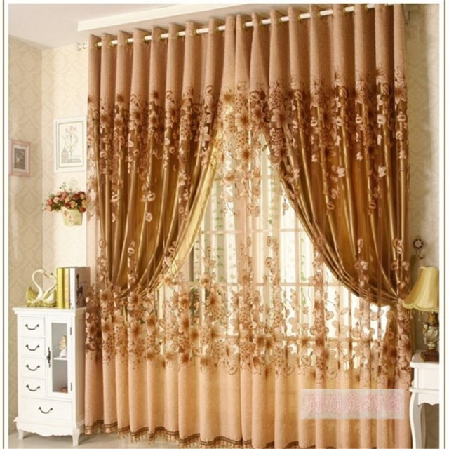 2017 The new Luxury Window Living Room Tulle Window Curtains Kitchen