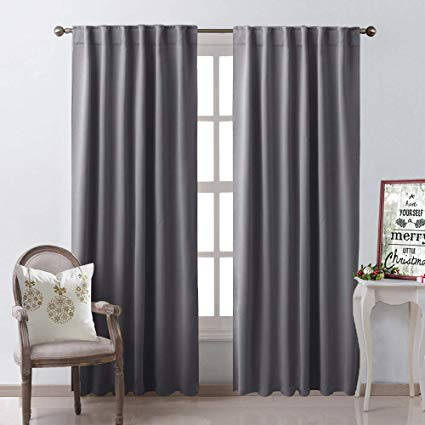 Amazon.com: NICETOWN Blackout Curtain Panels Window Draperies