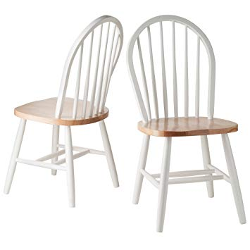 Amazon.com - Winsome Wood Windsor Chair in Natural and White Finish