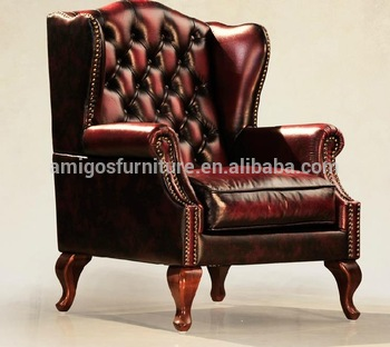Antique Leather Wingback Chair, View vintage leather chair, AMIGOS