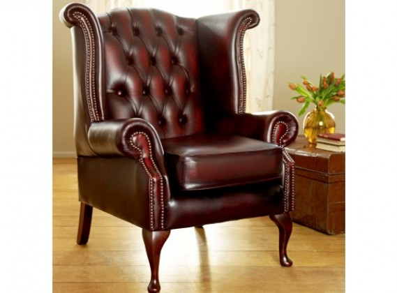 Leather Wingback Chairs: High Back, Scroll, Queen Anne & More