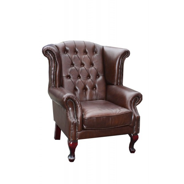 Churchill Leather Wing Back Chair