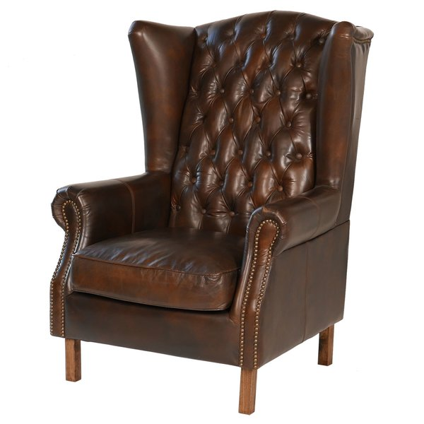 Wingback leather armchair: leather   furniture and its benefits
