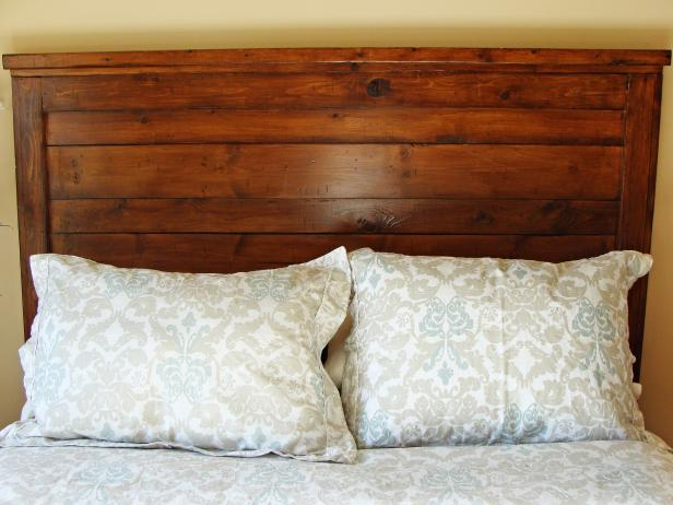 How to Build a Rustic Wood Headboard | how-tos | DIY