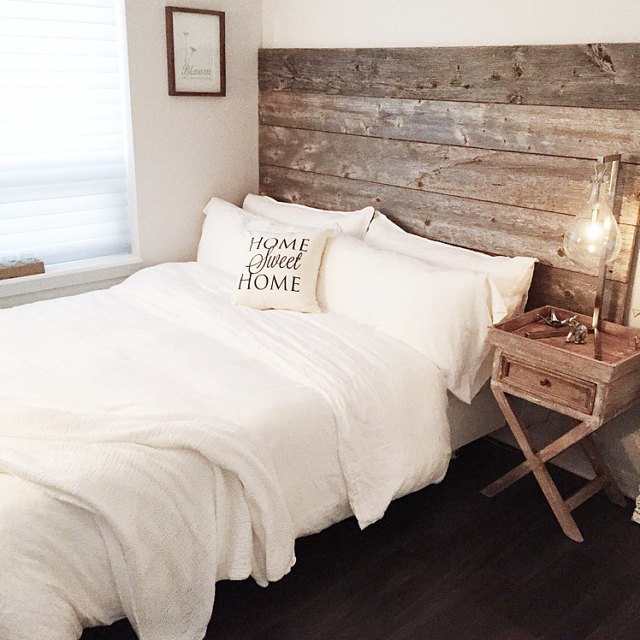 Reclaimed Wood Headboard DIY Installation - Made From Real Barn Wood