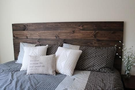 DIY How To Make Your Own Wood Headboard in 2019 | Diy | Rustic