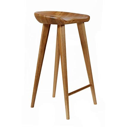 Amazon.com: Set of 2 Tractor Contemporary Carved Wood Barstool